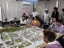 復興公営住宅での暮らしを模型で疑似体験