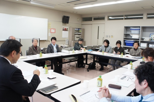 「傾聴ボランティアさくら」先進地視察委員会による先進地訪問の報告会(平成28年3月10日)